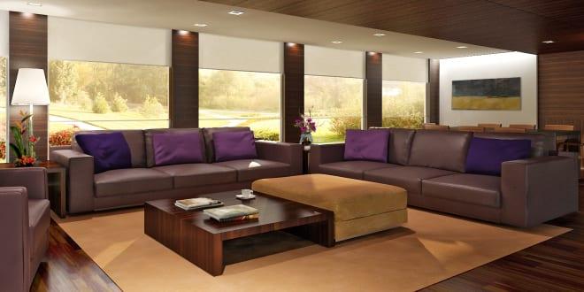 wohnzimmer braun und lila - fresHouse