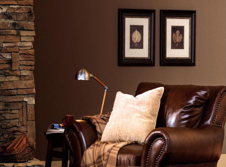 Wohnzimmer Braun Wandfarbe Braun