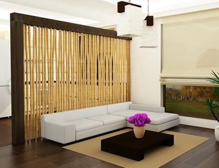 wohnzimmer gestalten bambus wand freshouse. Black Bedroom Furniture Sets. Home Design Ideas