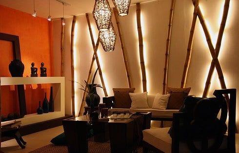 wohnzimmer gestalten mit bambus - fresHouse