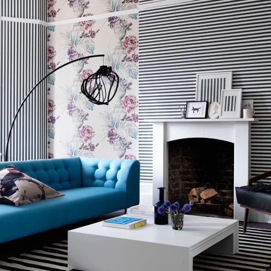 Wohnzimmer Gestalten Schöner Wohnen Farbrausch Weiß Und Schwarz
