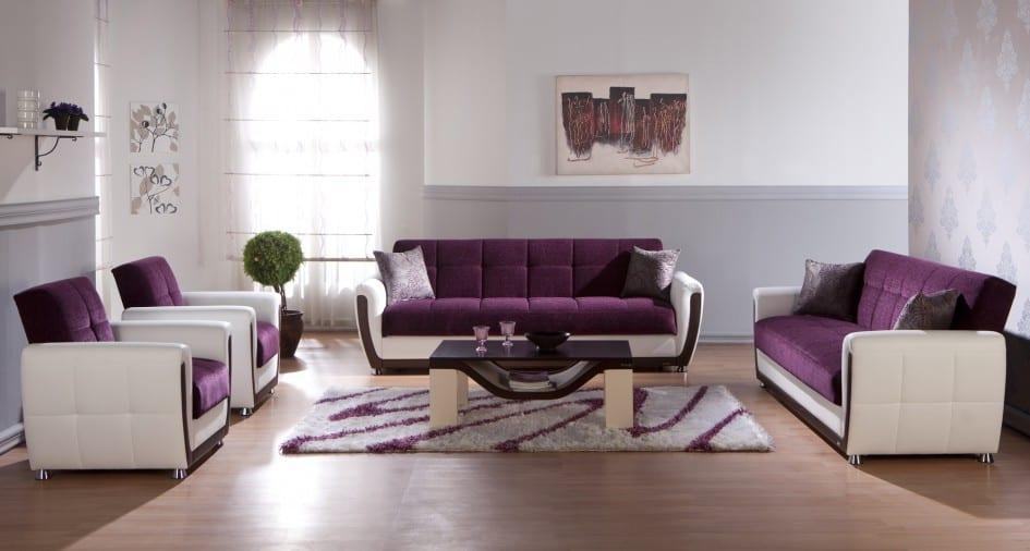 wohnzimmer gestalten-wohnzimmer lila - fresHouse