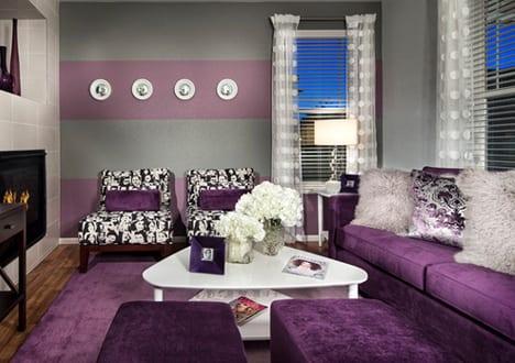 Best Moderne Wohnzimmer Lila Photos - Rellik.us - rellik.us