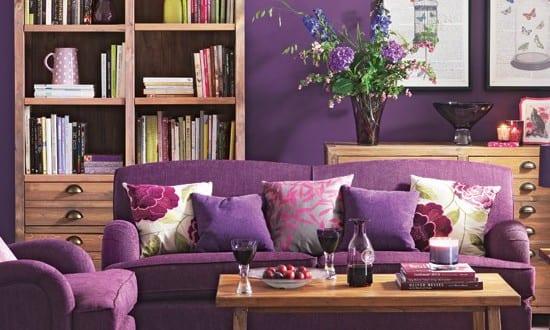 Wohnzimmer lila sofa und sessel violett freshouse - Wohnzimmer in lila ...