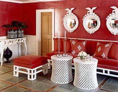 wohnzimmer rot-wandfarbe rot - fresHouse