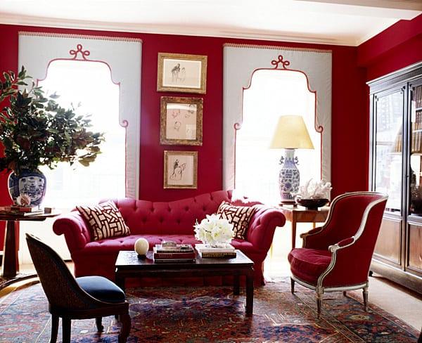 Fantastisch Wohnzimmer Rot Wohnzimmer Gestalten In Rot