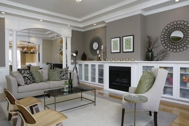 Attirant Wohnzimmer Streichen Idee Wandfarbe Grautöne