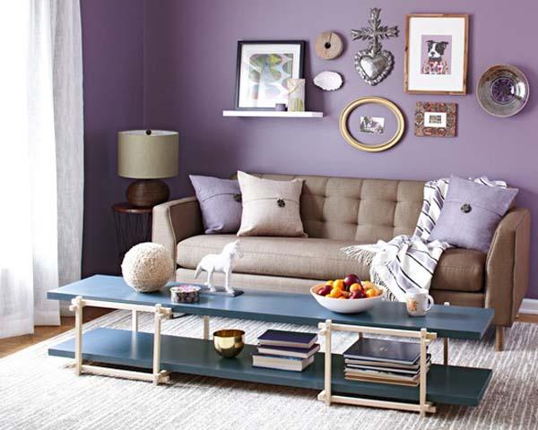 wohzimmergestaltung-wohnzimmer lila - fresHouse