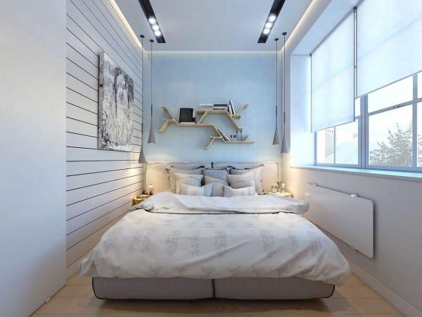 Schön 2 Raumwohnung Kleines Schlafzimmer Inspiration Mit Indirekter  Deckenbeleuchtung