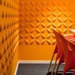 schick und umweltfreundlich- wandfarbe gelb-wandgestaltung mit dekorativen wandpaneelen