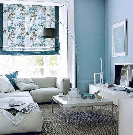 Hellblau Als Ruhige Wandfarbe- Wände Streichen In Blau