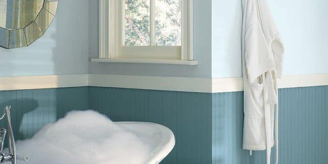 Hellblau-schöne Wandfarbe Blau Fürs Badezimmer