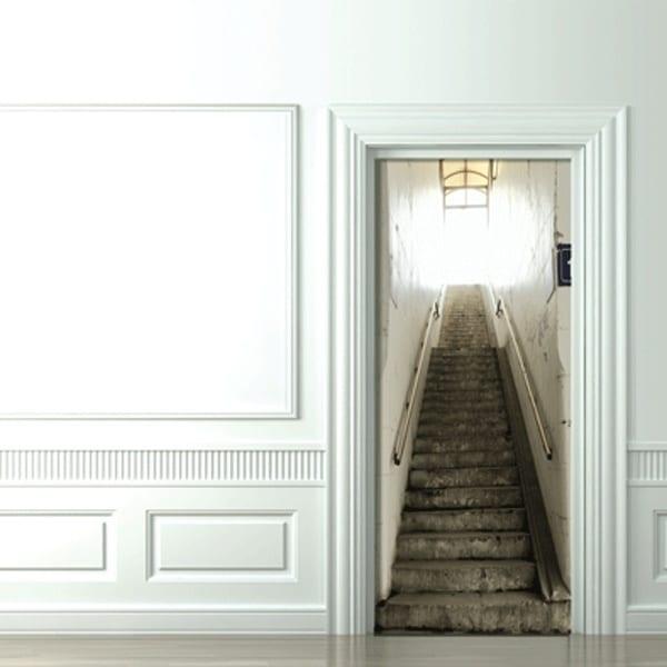 Ideen Minimalismus Und Natürlichkeit Im Badezimmer 2018: Optische Täuschung Mit Fototapet Treppe