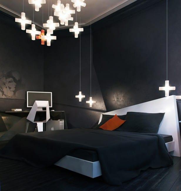 Zweiraumwohnung Inspirationen-modernes schlafzimmer schwarz mit ...