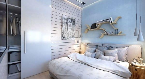 Zweiraumwohnung Inspirationen Schlafzimmer Einrichten Mit, Schlafzimmer