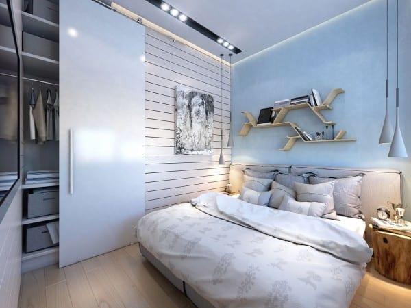 Zweiraumwohnung inspirationen-schlafzimmer einrichten mit wandfarbe ...