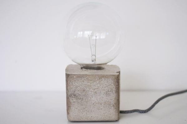 Fabelhaft basteln mit beton-DIY stehlampe - fresHouse #BE_51