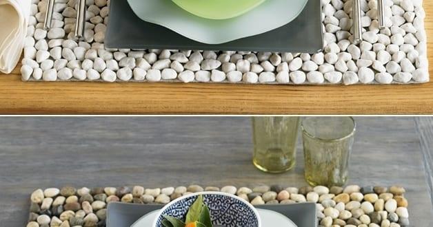 basteln mit naturmaterialien f r diy tisch set freshouse. Black Bedroom Furniture Sets. Home Design Ideas