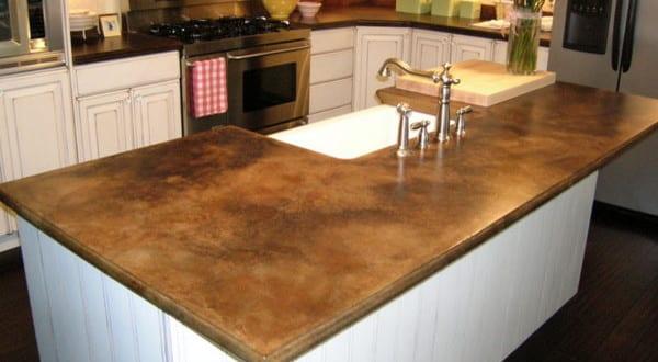 Küchenarbeitsplatten Beton beton braun für küchenarbeitsplatten freshouse