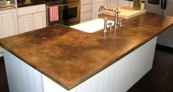 beton braun für küchenarbeitsplatten - fresHouse