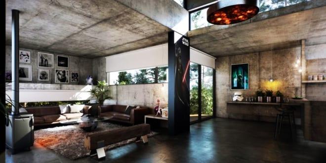 betonbau modern mit sichtbetonw nden und decken modenrs wohnzimmer interior freshouse. Black Bedroom Furniture Sets. Home Design Ideas