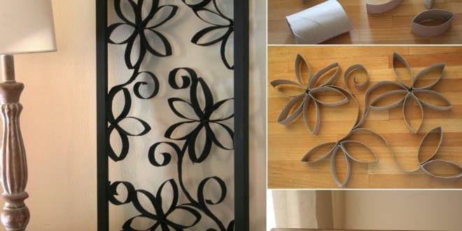 bilderrahmen dekorieren mit papprolle basteln mit naturmaterialien freshouse. Black Bedroom Furniture Sets. Home Design Ideas
