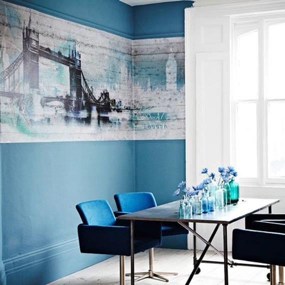 Blau-Schöne Wandfarben - Freshouse