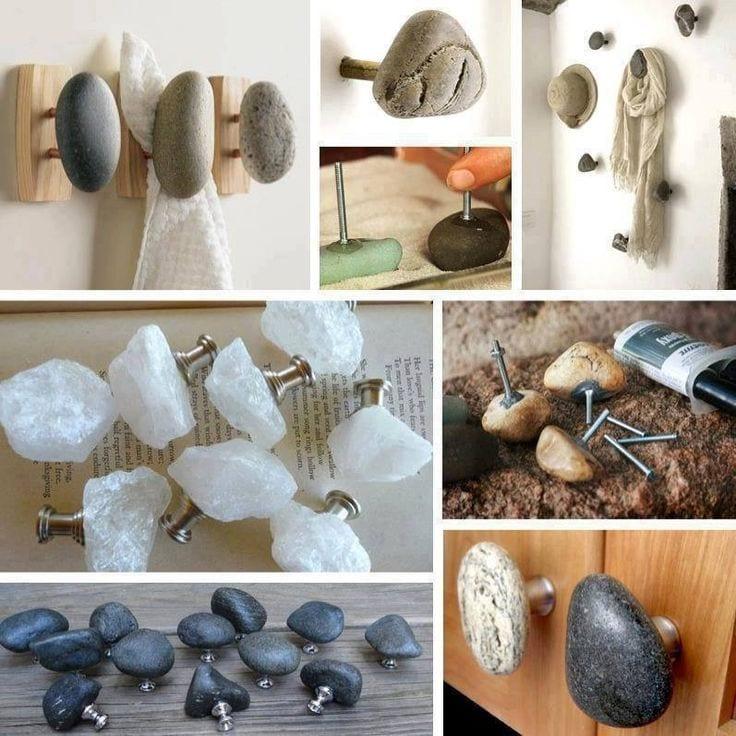 Coole Bastelideen Für Diy Griffe Aus Steinen Basteln Mit