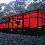 modernes haus design mit gebogenem dach