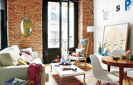 einrichtungsideen wohnzimmer für schöne wohnzimmer mit ziegelmauer ...