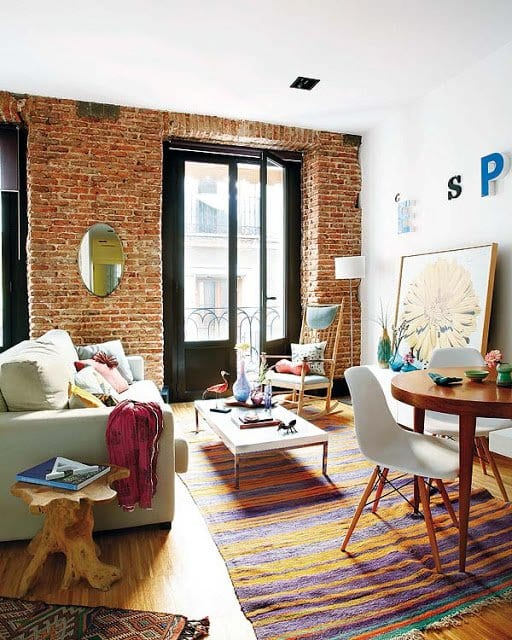 Einrichtungsideen Wohnzimmer Für Schöne Wohnzimmer Mit Ziegelmauer