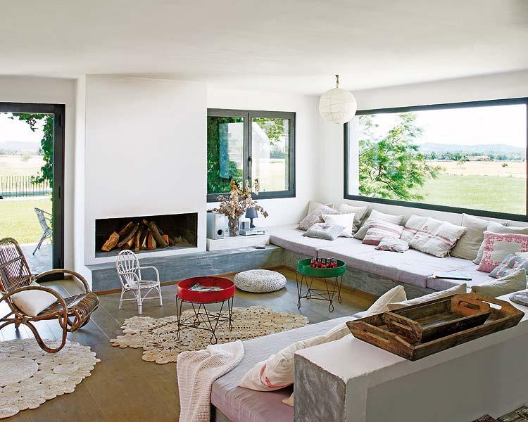 einrichtungsideen wohnzimmer mit DIY Sitzecke Wohnzimmer aus beton ...