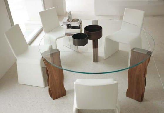 Esstisch glas rund  esstisch rund aus holz und glas - fresHouse