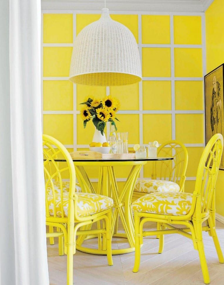 Esszimmer farbgestaltung in gelb freshouse - Farbgestaltung esszimmer ...