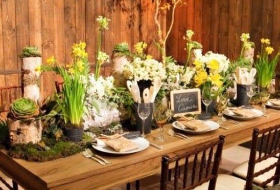Fantastische Ostern Tischdeko Idee Mit Blumen Und Moss Freshouse