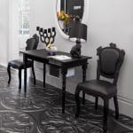 Wohnideen flur mit elastischem Bodenbelag schwarz-sideboard dekorieren