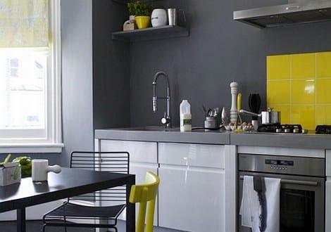 k che gestaltung mit gelb freshouse. Black Bedroom Furniture Sets. Home Design Ideas