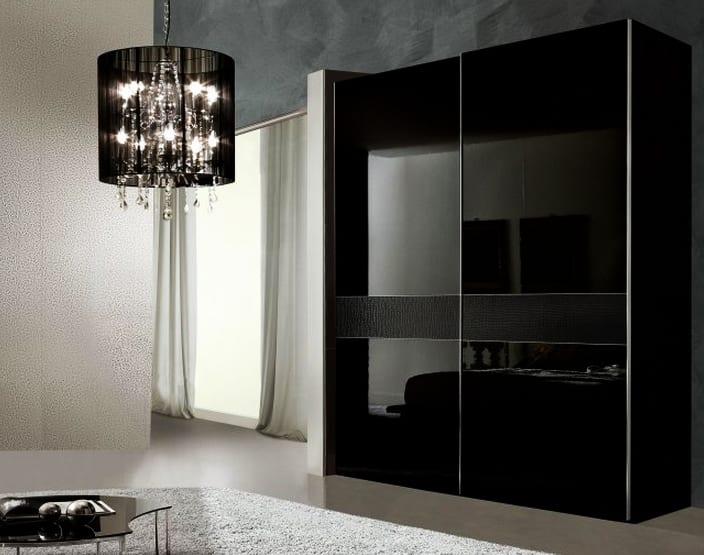 kleiderschrank schwarz mit schiebetüren-schlafzimmer set - fresHouse