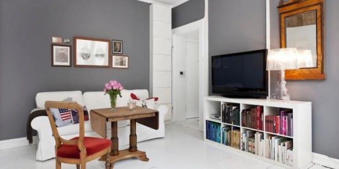 wohnen im kleinen Appartement – Einrichtungsidee für Zweiraumwohnung