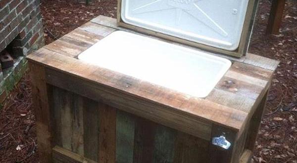 Kreative Gartenmöbel Aus Paletten Kühlschrank Im Garten Freshouse