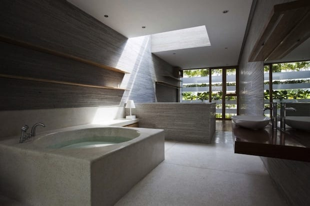 luxus badezimmer interior mit Beton-Green Home Design at Saigon ...