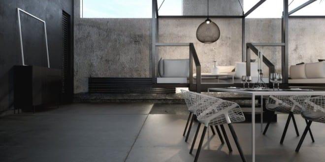 Luxus interior mit wandfarbe schwarz und moderne esstische und st hlen wei freshouse - Wandfarbe schwarz ...