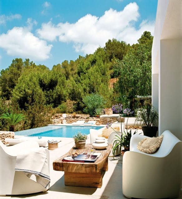 Luxus Mediterrane Terrasse Gestalten Mit Modernen Weißen