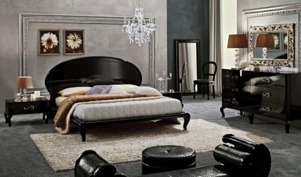 Luxus schlafzimmer grau schlafzimmer set mit m belst cken for Schlafzimmer set schwarz