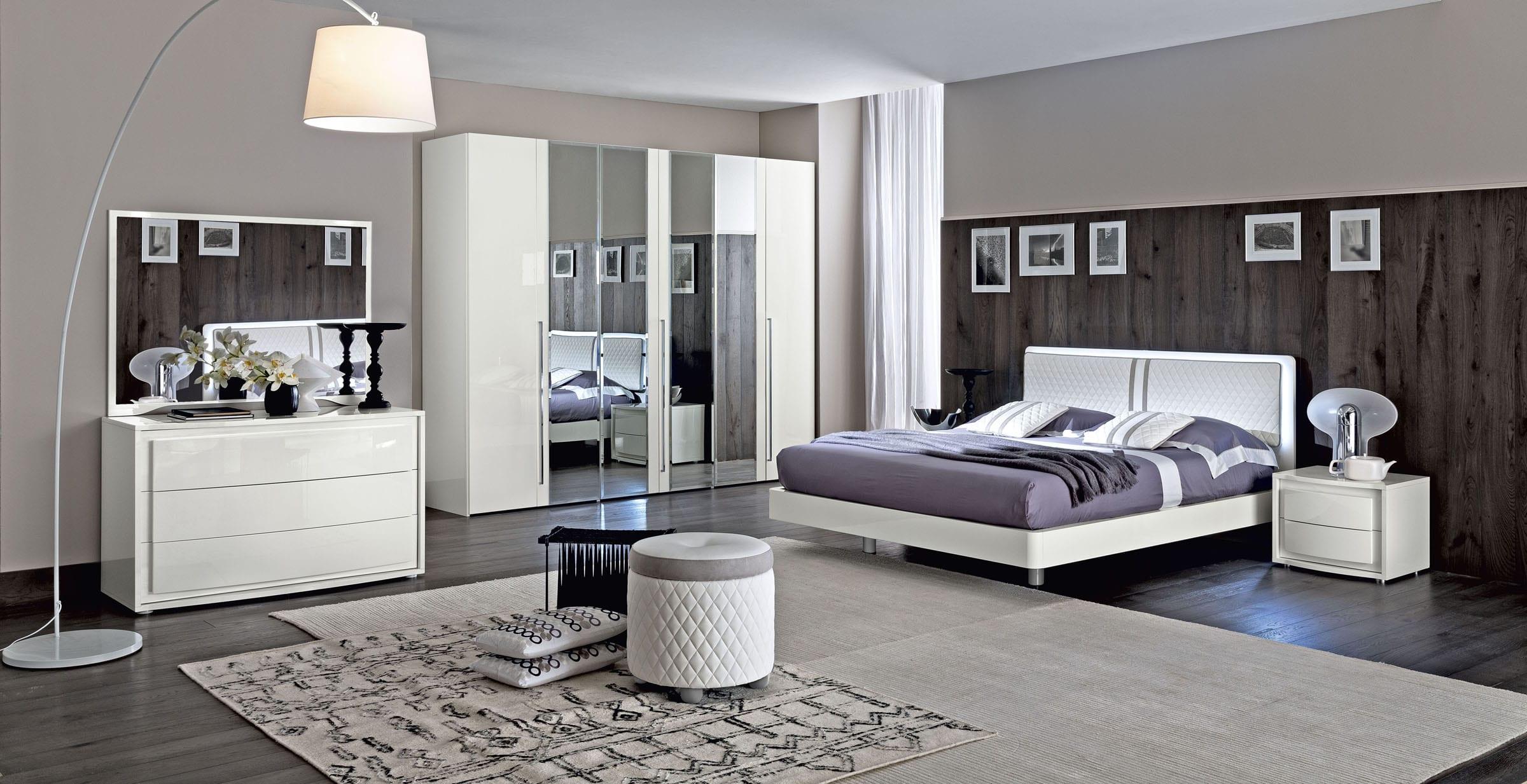 Perfekt Luxus Schlafzimmer Set Möbelstück Weiß Für Modernes Schlafzimmer Interior