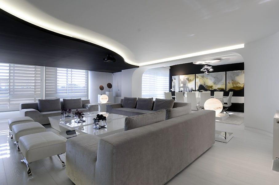 Luxus Wohn Esszimmer Schickes Interior Design