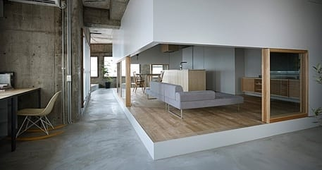 Luxus wohnzimmer im bestehenden betonbau via suppose for Wohnzimmer luxus design