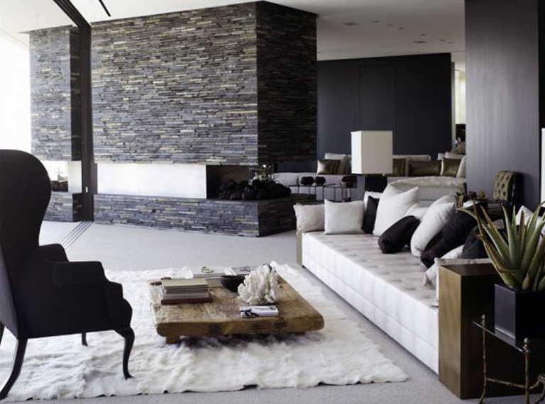 Fantastisch Luxus Wohnzimmer Schwarz Weiß