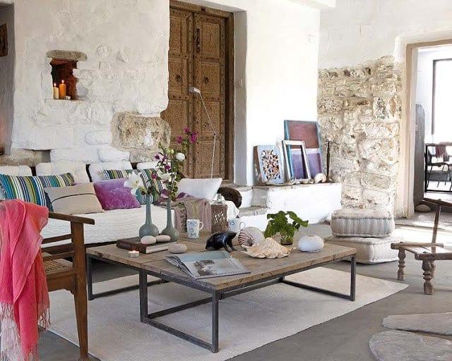 mein wohnzimmer inspirationen mit möbel rustikal und ...