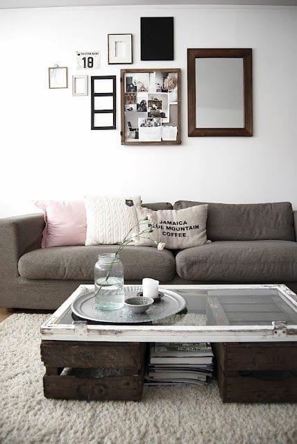 Mein Wohnzimmer Inspirationen Rustikal Mit DIY Couchtisch